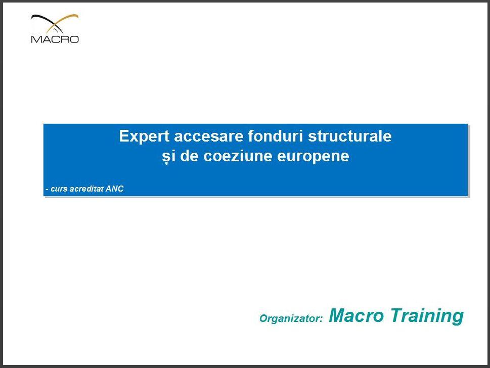 curs expert accesare fonduri europene